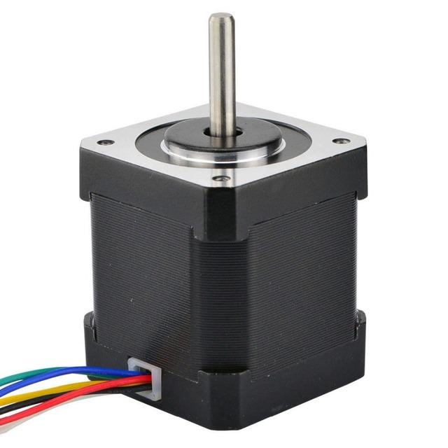 Nema 17 Stepper Motor Unipolar 32Ncm(45.3oz.in) 6-lead 42x48mm 1.8deg 12v 0.4A for DIY CNC 3D Printer Motor
