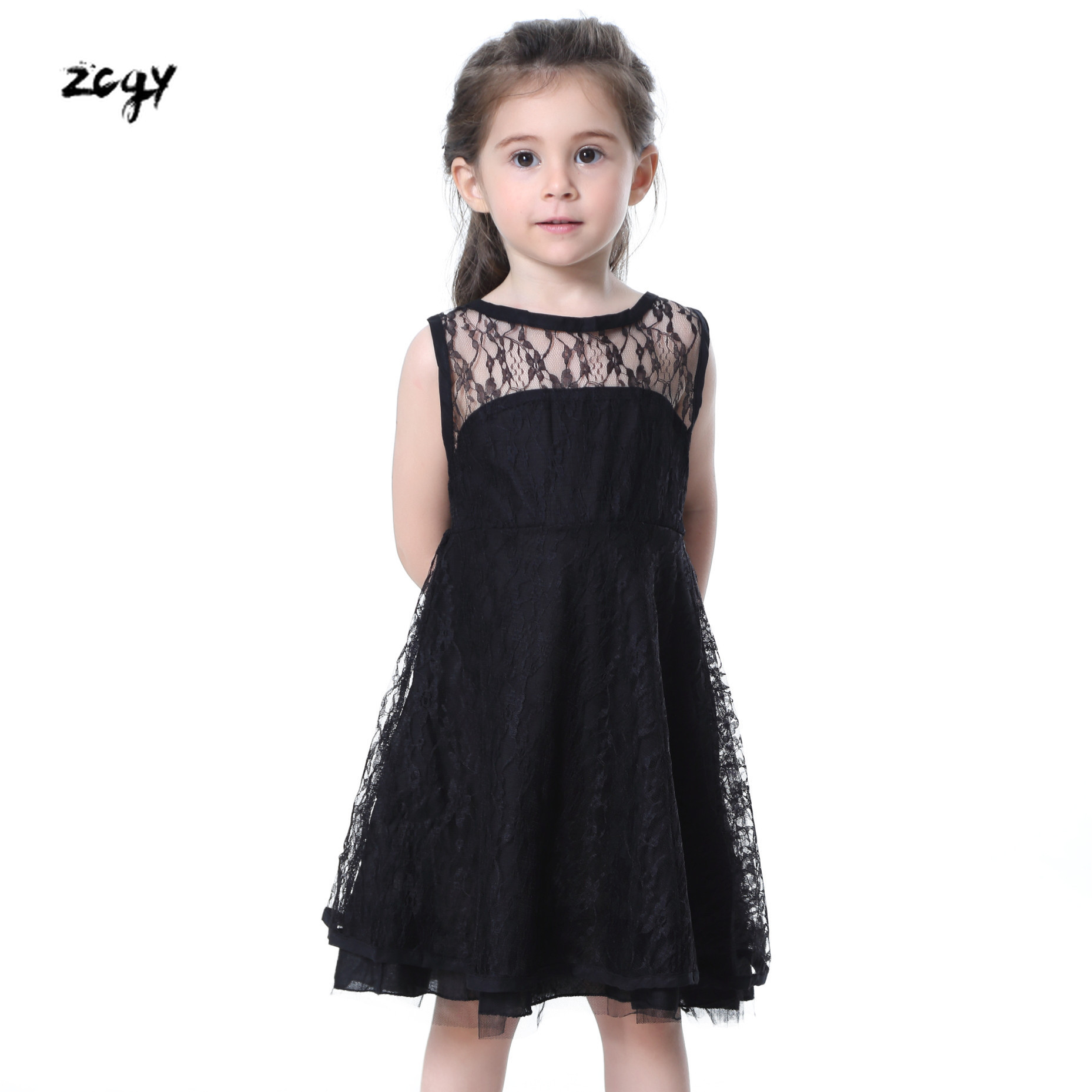 Summer Dresses For Girl 2019 Girls Clothing White Beading Princess Party Dress Elegant Ceremony 4-12Years Teenage Girl Costume