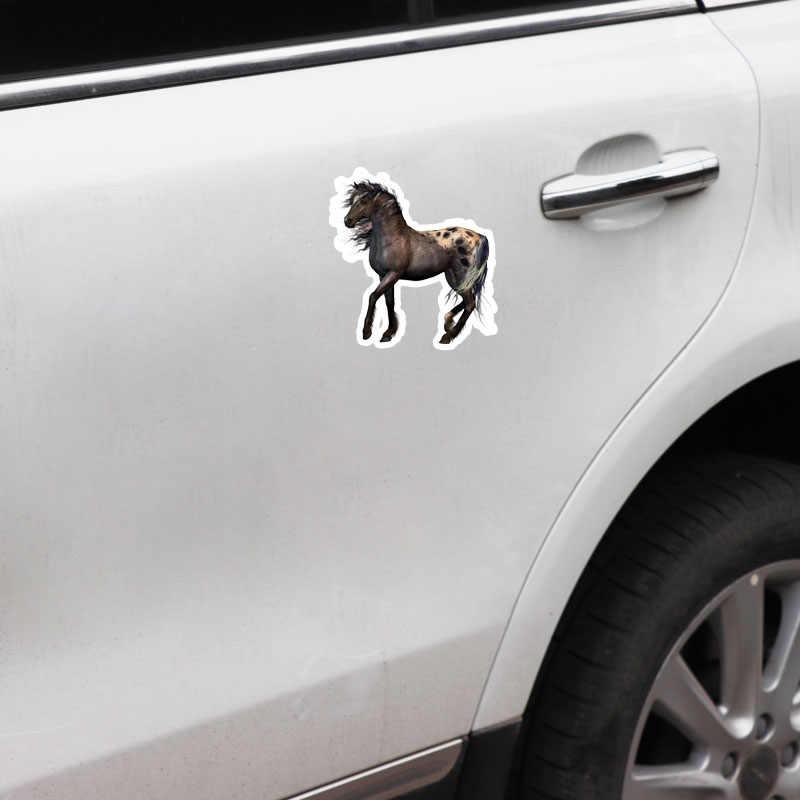 Yjzt 12 cm * 13.5 cm personalizado cavalo animal pvc boa qualidade etiqueta do carro decalque 5-0735