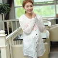Summer maternity clothing shirts maternity sun-protective clothing pregnant coat outerwear new style