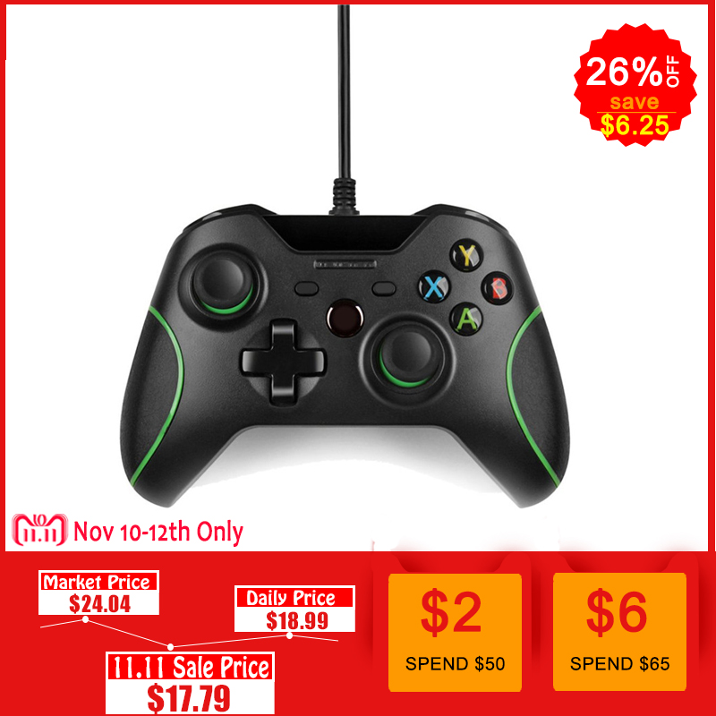 все цены на USB Wired Controller Controle For Microsoft Xbox One Controller Gamepad For Xbox One Slim PC Windows Mando For Xbox one Joystick