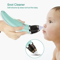 Kids Baby Nasal Aspirator Electric Safe Hygienic Nose Cleaner With 2 Size Of Nose Five gears Tips Oral Snot Sucker For Newborns