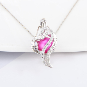 Image 5 - CLUCI 3pcs Silver 925 Heart Pearl Pendant Locket for Women Necklace 925 Sterling Silver Zircon Pendant Mothers Day Gift SC353SB