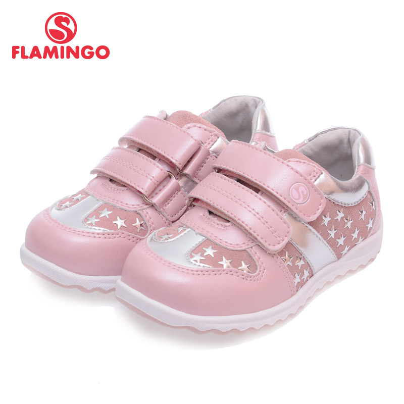 FLAMINGO 100% Russian Famous Brand 2016 New Arrival Spring & Autumn Kids Fashion High Quality shoes 61-XP111