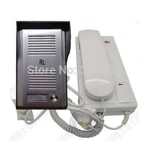 Freeshipping!wired Building interphone doorphone with rain cover.connected by two lines and two lines are exchangeable/FCDB3026B