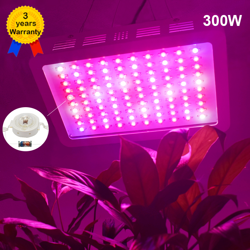 DILIYA 300W LED Grow Light Full Spectrum Plant Lighting Fitolampy Lamp Lamps for Plants Growing Flowers Seedlings Greenhouses 600w led grow light full spectrum leds plant lighting lamp for plants seedings flowers growing greenhouses 100 6w double chips
