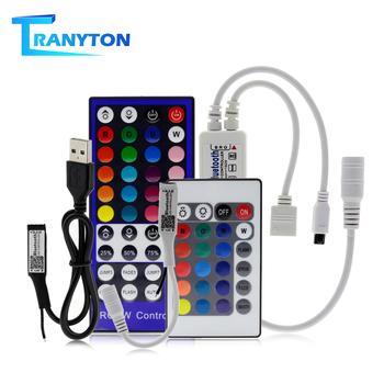 24 40 klawiszy kontroler LED RGB DC5V-24V Bluetooth RGB dioda LED RGBW światła kontroler IOS aplikacja na androida Bluetooth Mini kontroler RGB tanie i dobre opinie TRANYTON CN (pochodzenie) Bluetooth RGB LED Controller IR Remote Controller for LED Strip 5-10M RGB LED Strip ROHS 5-24 v