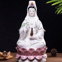 Керамика Белая керамика Guanyin Bodhisattva статуя Гуаньинь Будды белый фарфор скульптура офисные украшения Avalokiteshvara