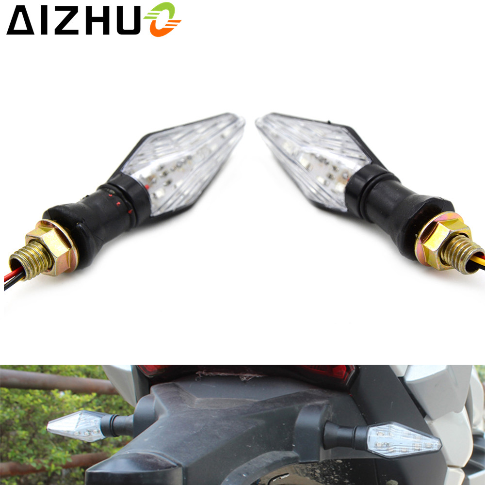 12V Motorcycle Turn Signal Light LED Lamp Blinker for kawasaki Versys 650 1000 Ninja 250R 250 300 ZZR 600 ZX 7R ZX9R