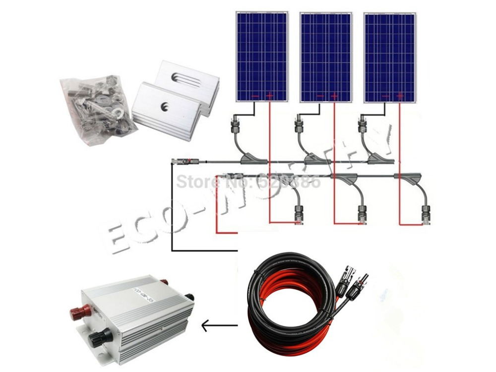 300w Solar System Complete Kit 3pcs 100W Photovoltaic PV Solar Panel System Solar Module for RV Boat Car Home Solar System 400watt complete kit 4 100watts photovoltaic solar panel for 24v system rv boat solar generators