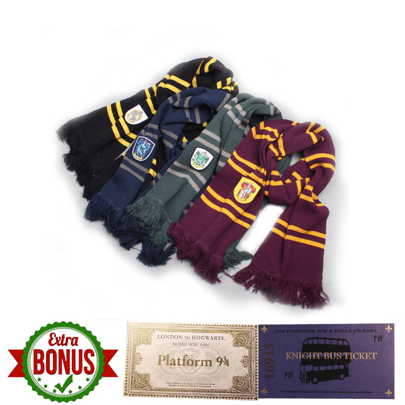 Harry Serives Scarves Four Houses Scarves HP Costumes Prop Christmas Gift