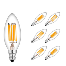 2W 4W E14 Led Filament Candle Bulb Light 220v LED Edison Candle Lamp Warm Cool White Vintage Candle Light For Home Decoration led edison lamp c35 e14 led candle light filament retro clear lamp 2w 4w 6w 220v 240v cold warm white for chandelier