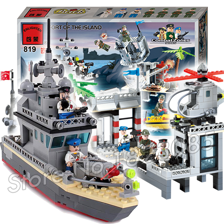 505pcs 2016 new Hot New CombatZones Fort of The Island large model Christmas Gift Building Blocks toys Compatible With Lego the brides of rollrock island
