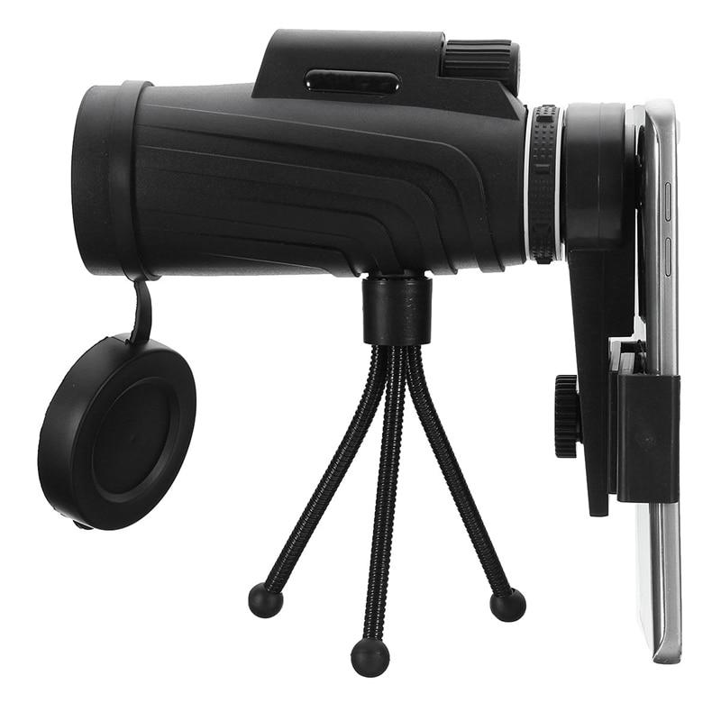 40X60 lente de Zoom HD recorrido que acampa impermeable telescopio Monocular + trípode + Clip para Samsung para iPhone Xiaomi huawei
