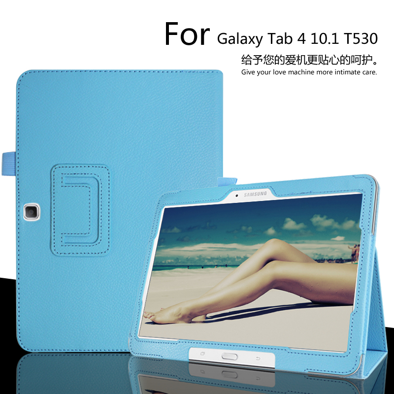 for Samsung T530 Leather Case, Ultra Thin Folio Slim PU Leather Stand Book Cover for Samsung Galaxy tab 4 10.1 inch T531 T535 ultra slim folio stand print flower pu leather case protective cover for samsung galaxy tab s 8 4 t700 t701 t705 t705c tablet