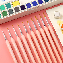 10Pcs Different Size Weasel Hair Hook Line Pen Fine Paint Brush Pen Set Artist Watercolor Acrylic Painting Brush Art Supplies 6pcs set watercolor brush weasel hair aquarelle paintbrush wooden handle artist paint brushes diamond shape hook line pen