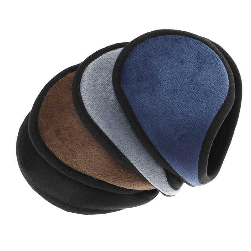 1 stück Schwarz/Kaffee/Grau/Navy Blau Ohrenschützer Bekleidung Zubehör Unisex Ohrenschützer Winter Ohr Muff Wrap Band ohr Wärmer Earlap Geschenk