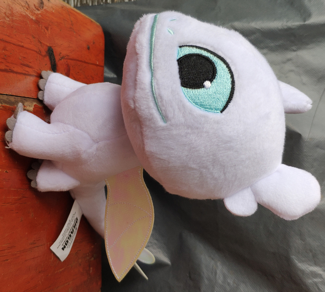 How to Train Your Dragon 3 Plush Toy Light Fury Soft White Dragon Stuffed Doll 22cm