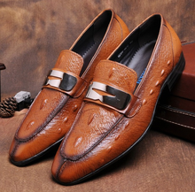 Moda marrom/preto verão mocassins mens sapatos de couro genuíno causal sapatos de negócios respirável sapatos de casamento do mens