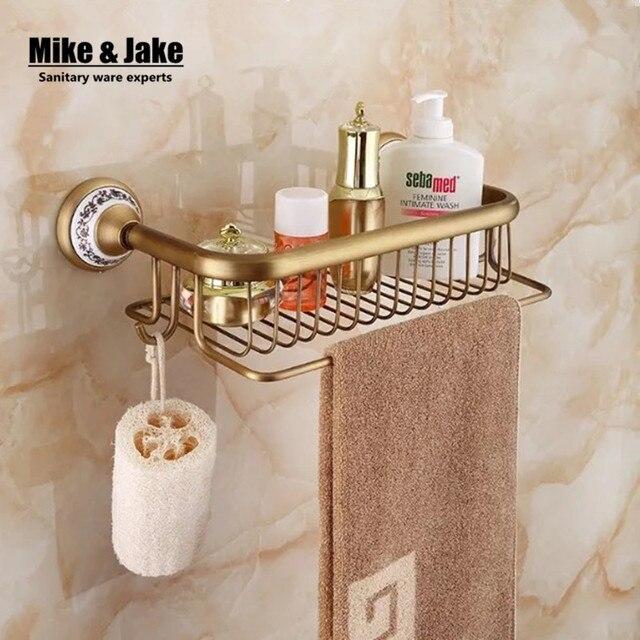 Bad antiken messing badezimmer eckregal kosmetische halter bad regal ...