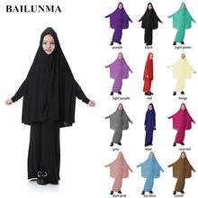 Модное платье хиджаб Малайзия абайя мусульманское Дубай девочка