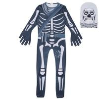 cosplay skull trooper Costume Halloween Superman Costume For Kids Ghost face skeleton Carnaval Toddler Jumpsuits Body suit/mask