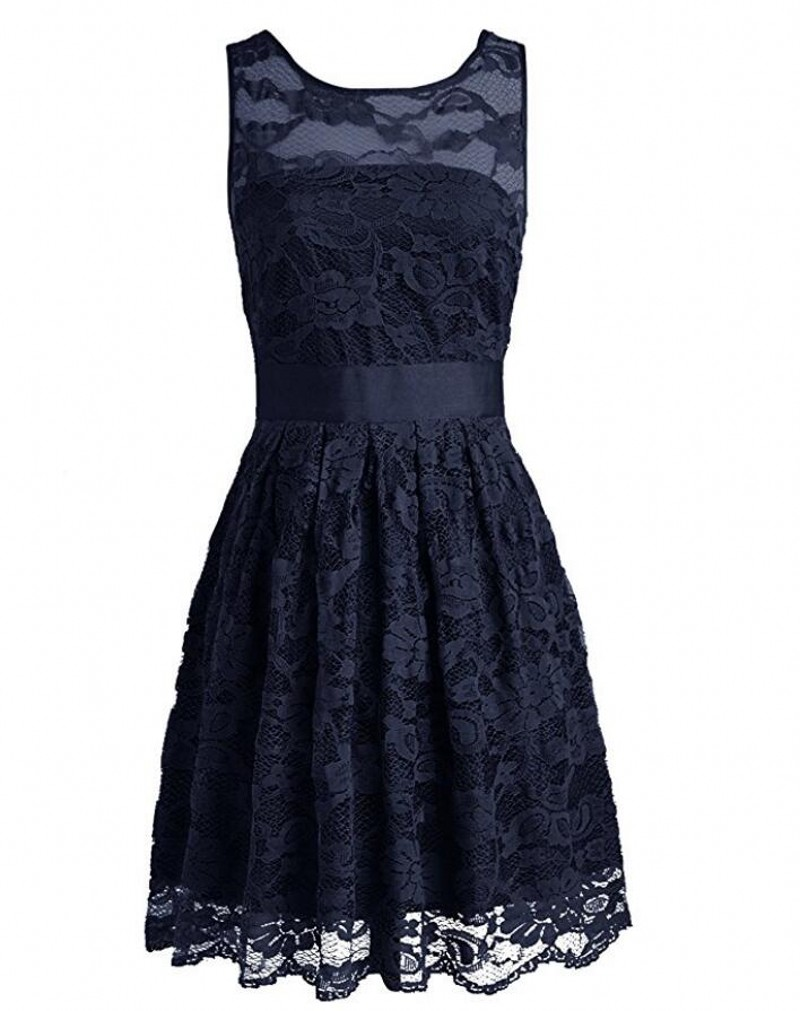 Online get cheap customized bridesmaid dress navy aliexpress wholesale navy grey short bridesmaid dresses scoop neck wedding party dresses with zip back lace homecoming dresses custom made ombrellifo Choice Image