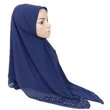 Muslim high quality chiffon scarf Southeast Asia pair flower headdress hijab scarf Large square scarves цена