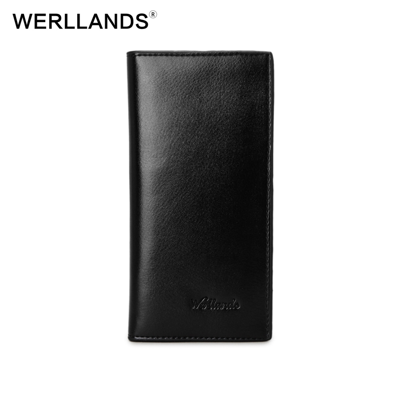 WERLLANDS Brand Mini Men Wallet PU Leather Long Clutch Fashion Luxury Wallets for Men Slim Purse Male Wallets Small Carteira baellerry small mens wallets vintage dull polish short dollar price male cards purse mini leather men wallet carteira masculina