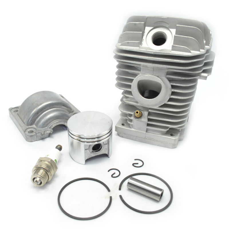 42.5mm Cylinder Kit Piston with Rings Engine Pan Spark Plug fit Chainsaw Stihl 025 MS250 Replaces 1123 020 1209 38mm engine housing cylinder piston crankcase kit fit husqvarna 137 142 chaisnaw
