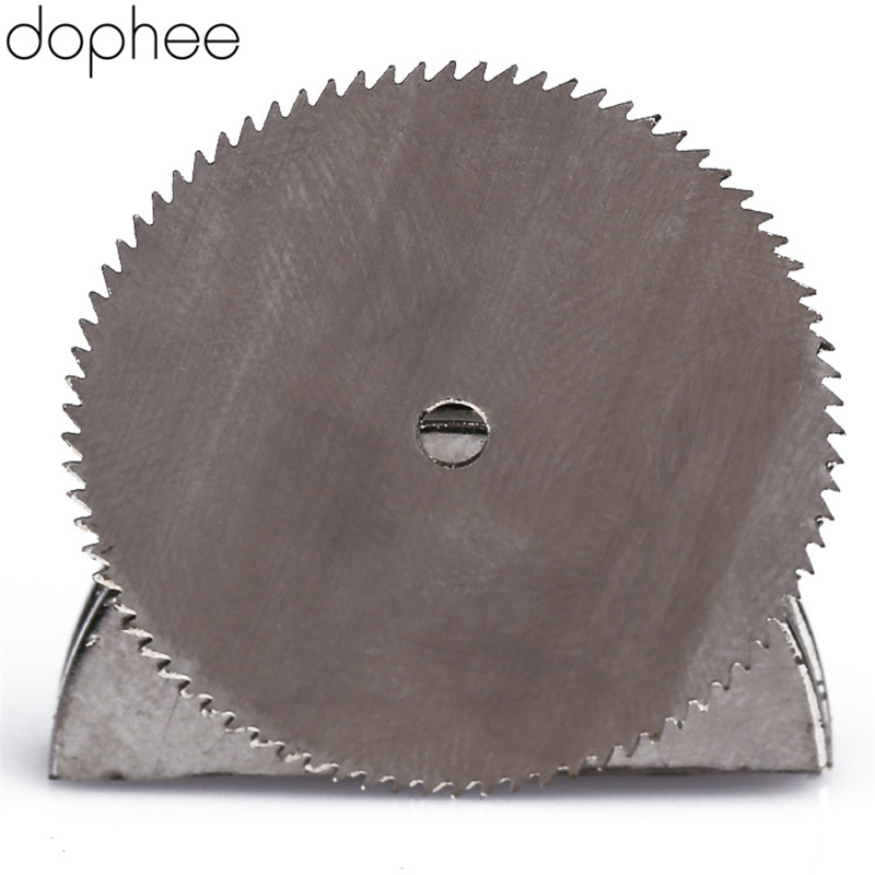 Dophee Stainless Steel Round Cut Off Grinder Wood Saw Cutter Wheel Blade Abrasive For Dremel Rotary Tool Cutting Disc 25MM 20pcs