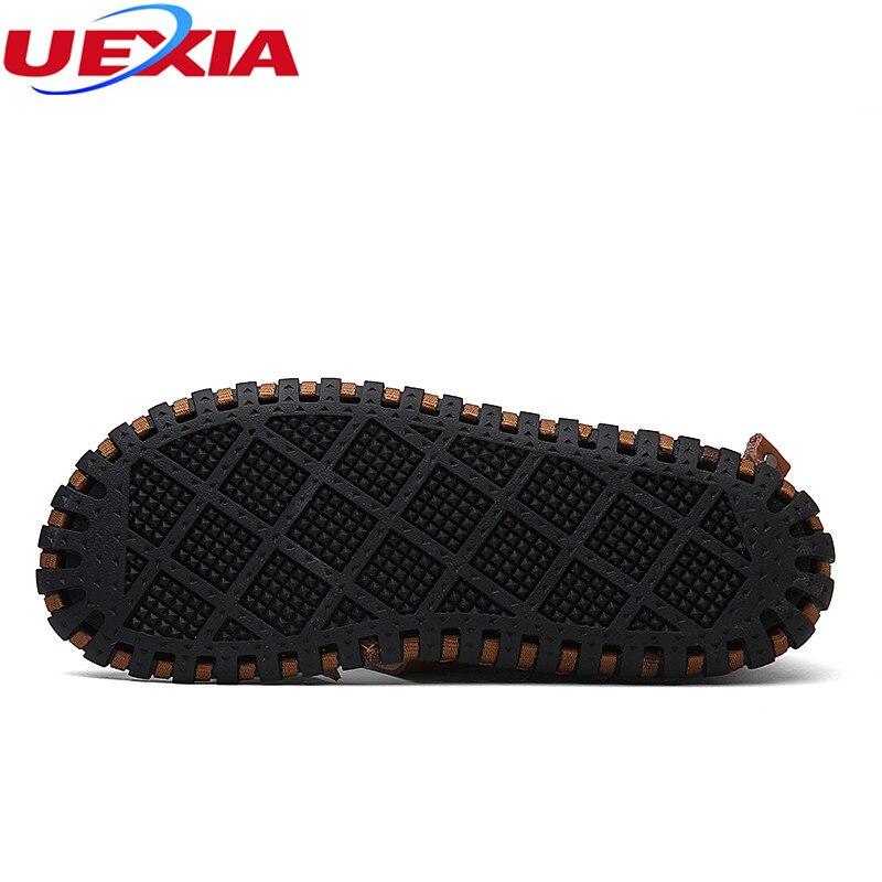 Uexia 2018 ручной работы открытые летние качество кожи Повседневное мужские сандалии для Мужская обувь прогулочная пляжные удобные дизайнерск...