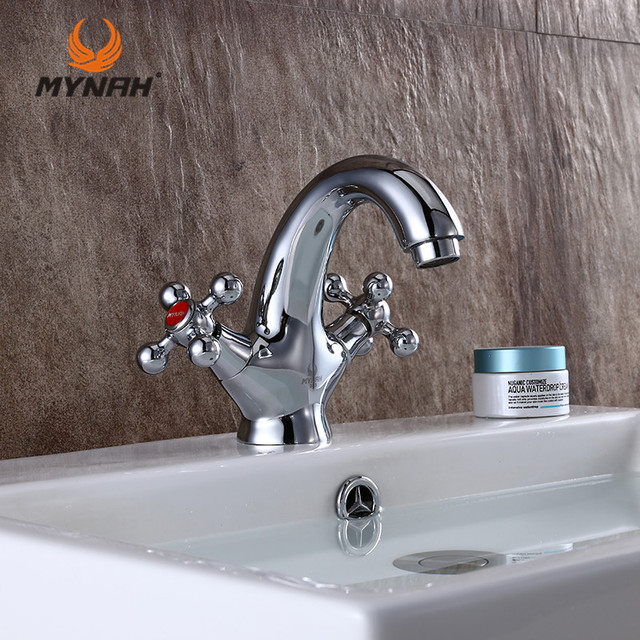 Bon MYNAH Russia Free Shipping Modern Classic Style Sink Basin Faucet Bathroom  Faucet Polished Screw Switch Double
