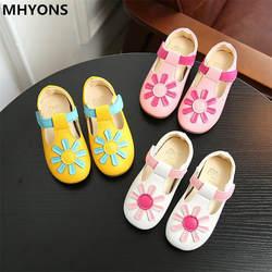 Сандалии для девочек; Новинка 2019 года; Летняя детская обувь с милыми цветами; детская обувь; модные сандалии для девочек; волшебная детская