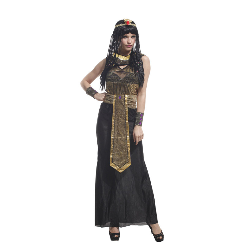 Adult Ancient Egypt Egyptian Empress Queen Halloween Costume 2