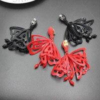 Barokke oorbellen pure handgemaakte Impatiens modeling hollow bloem oor oorbellen geen oor gat oorbellen vrouwelijke 384