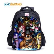 LUOBIWANG Five Nights At Freddy's Schoolbag Backpacks Bonnie Fazbear Foxy Freddy Chica School Bags for Teenager  Kids Bags цена 2017