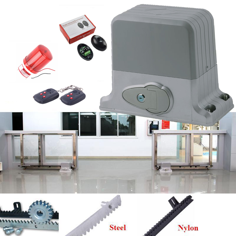 GALO Automatic Sliding Electric Gate Opener 1800KG Automatic Motor Remote Kit Heavy Duty 6m rack infrared photocell alarm lamp automatic sliding gate opener for home automation 1000kg