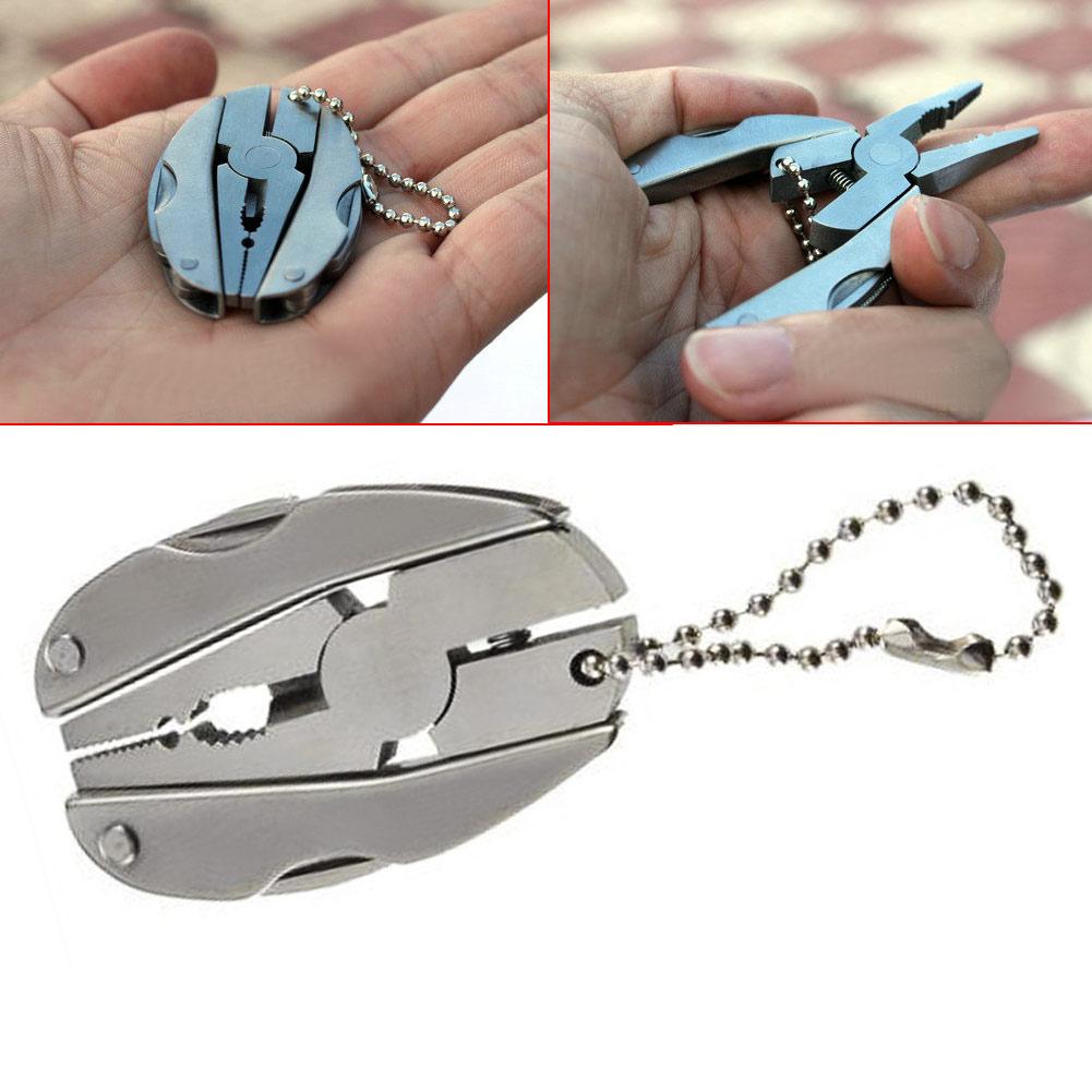 Alicates plegables multifunción Mini llavero de bolsillo plegable de - Herramientas manuales - foto 2