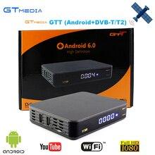 3 pcs Gtmedia GTT Android 6.0 CAIXA de TV Top + DVB-T/T2/Cabo Amlogic S905D construído wi-fi Por Satélite Apoio receptor 1 Ano Europa Clines