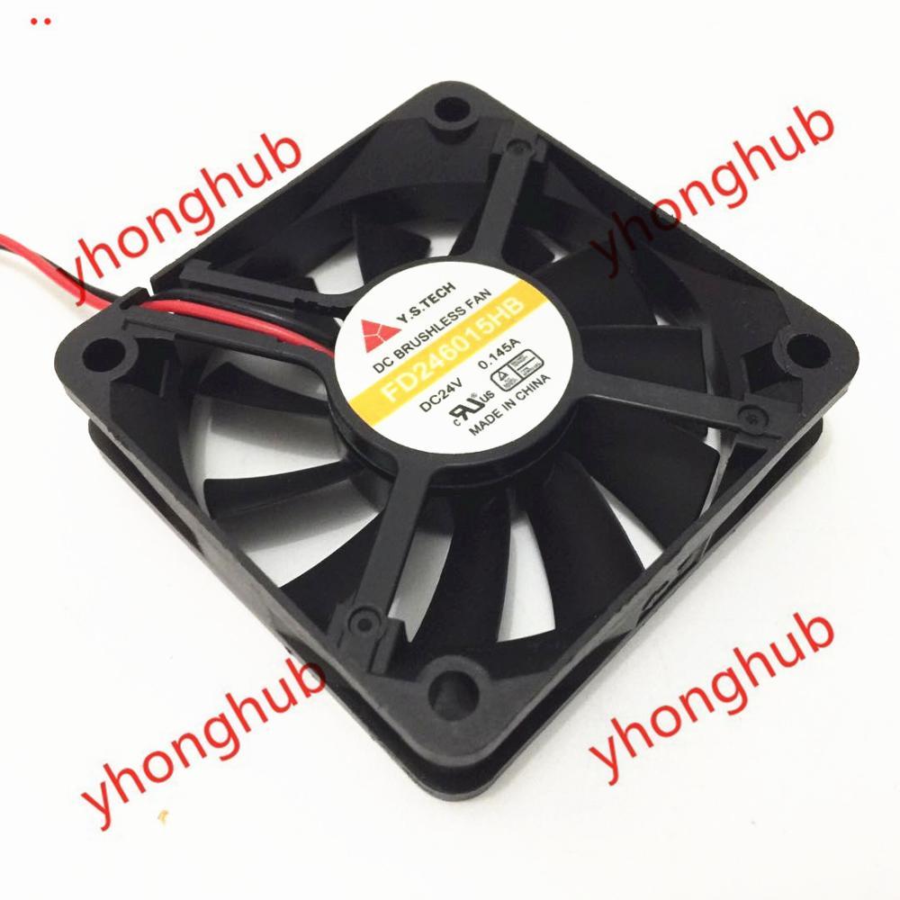 Emacro For Y.S.TECH FD246015HB DC 24V 0.145A 60x60x15mm Server Square Fan