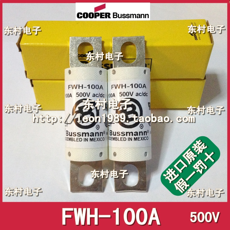 US imports BUSSMANN fuse FWH-100A 100A 500V fuse Mexico Manufacturing free shipping 1pcs lot din43620 imported fuse tube nh000 500v fuse body 100a 120ka eti