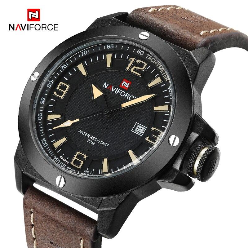 купить NAVIFORCE Top Brand Men's Fashion Luxury Quartz Wrist Watch Waterproof Military Sports Watches Men Clock Male Relogio Masculino по цене 1223.28 рублей