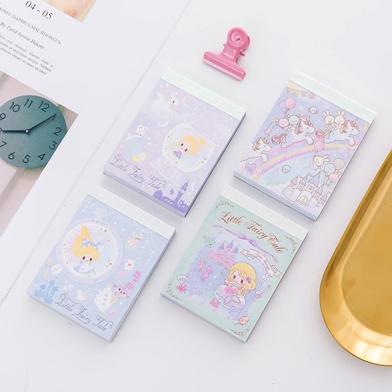 Cute Kawaii Cartoon Rainbow Unicorn Memo Pad Post It Note Sticky Paper Korean Stationery Planner Stickers Notepads School Office