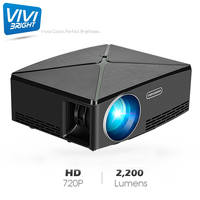 HD Projector 2200 Lumen 1280x720 Resolution Projector for Full HD 1080P LED TV Video Beamer for Home Cinema
