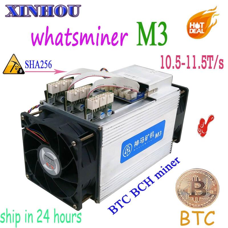 Utilizzato Asic Bitcoin Minatore WhatsMiner M3 10.5 T-11.5 T non PSU BTC BCH mining Meglio di m10 m3x antminer S17 S15 S11 S9 Z9 T2T T3 T9