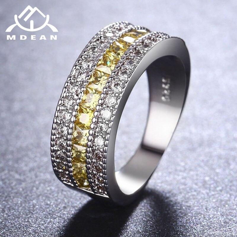 MDEAN սպիտակ ոսկե գույնի օղակներ կանանց - Նորաձև զարդեր - Լուսանկար 5