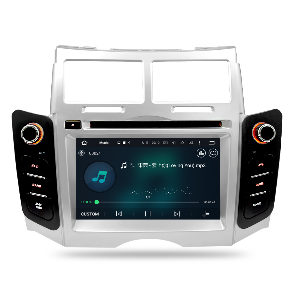 IPS Android 9.0 Car DVD player GPS Navigation Multimedia Stereo For Toyota Yaris 2005-2011 Auto Radio Audio Bluetooth Headunit