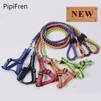 PipiFren Dogs Collars Harness Leash Reflective For Pets Vest Large Cat Supplies Nylon Big Dog Collar