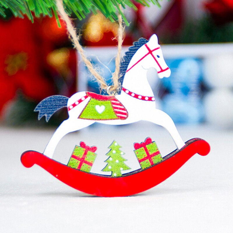 Christmas Tree Decorations For 2019: 2019 Popular Christmas Tree Horse Pendant Christmas Color